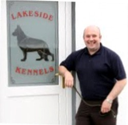 Michael Forde outside at the reception at Lakeside Kennels & Cattery, Dungloe, County Donegal, Ireland